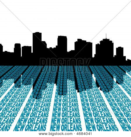 New Orleans Skyline With Text