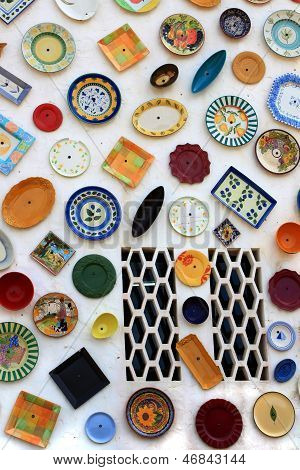 Artisan's Wall Of Handpainted Plates