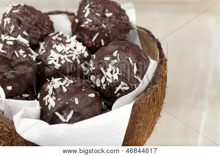 Coconut Milk Rice Truffles And A Bowl