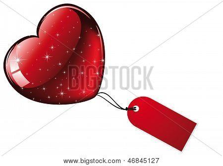 Big Red Glittering Heart