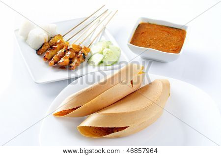 Apam balik, another version of pancake, sweet crispy filled with peanuts, sugar and sweet corn. Delicious Malay street food, Malaysian snack, Asian cuisine.
