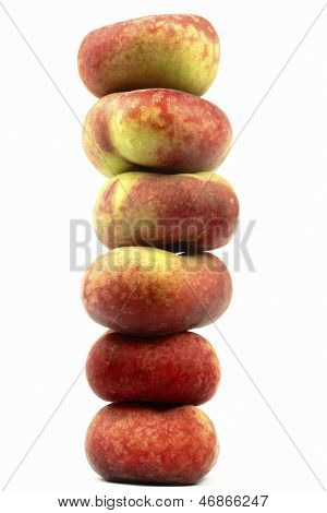 wild peaches on the white background
