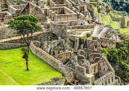 Machu Picchu, The Ancient Inca City In The Andes, Peru