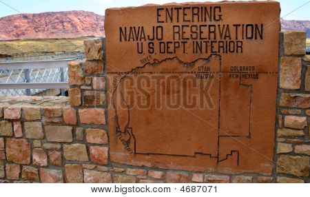 Sign – Navajo Reservation - Editorial