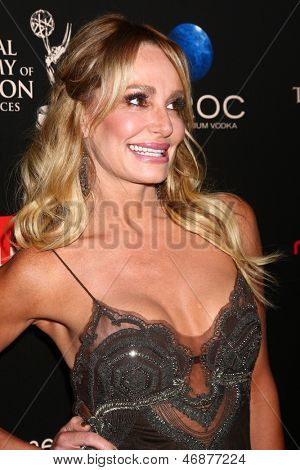 LOS ANGELES - JUN 16:  Taylor Armstrong arrives at the 40th Daytime Emmy Awards at the Skirball Cultural Center on June 16, 2013 in Los Angeles, CA