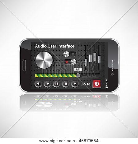 Ui Mobile Application Metal, Black Smartphone