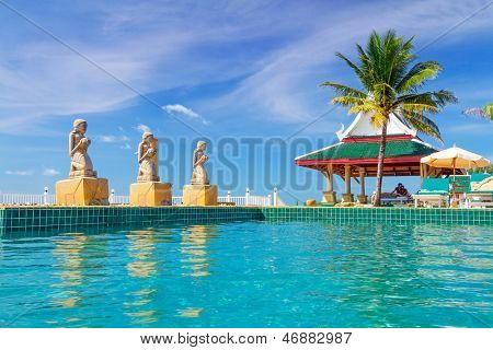 KOH KHO KHAO, THAILAND - NOV 14: Oriental architecture of Andaman Princess Resort & SPA. Hotel was destroyed by tsunami in 2004 and rebuild, Koh Kho Khao, Phang Nga in Thailand on Nov. 14, 2012.
