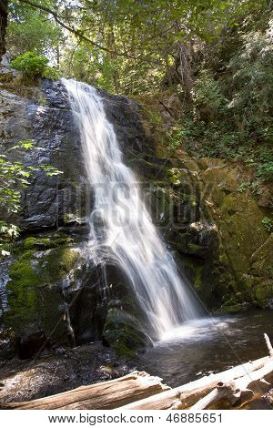 Waterfall At The Small River Cascade Creek