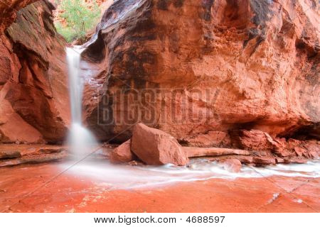 Red Rock Desert Waterfall