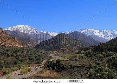 Marokko, hoher Atlas-Gebirge, Toubkal-Nationalpark