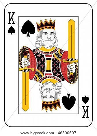 King of spades. Original design