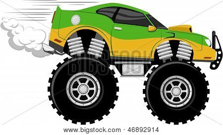 monstertruck race car cartoon