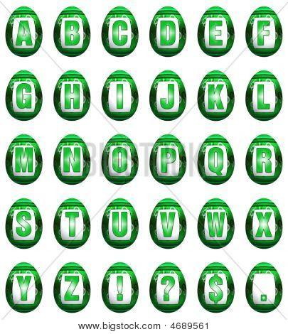 Easter Egg Font - Green