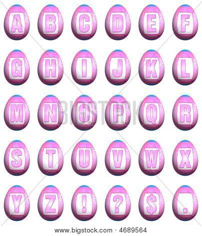 Easter Egg Font - Pink