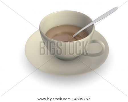 Teacup With A Spoon