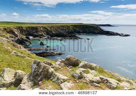 West Wales coast Deadmans Bay near Skoma island