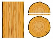 Timber and wood texture with elements. Editable vector illustration poster
