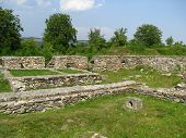 Ancient Ruins from Colonia Ulpia Traiana Augusta Dacica Sarmizegetusa in Romania poster