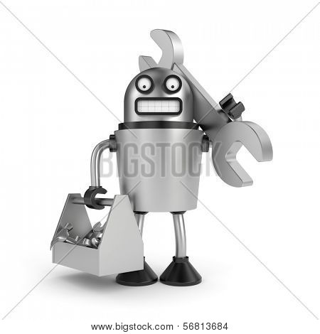 Steel Robot with toolbox