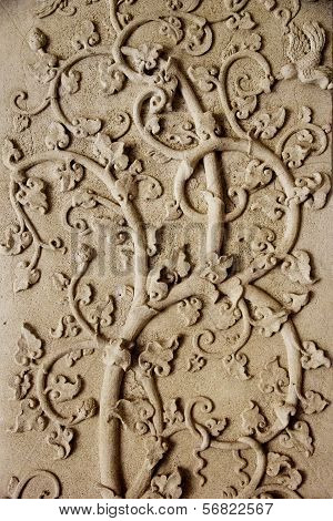 Tree Pattern In Traditional Thai Style