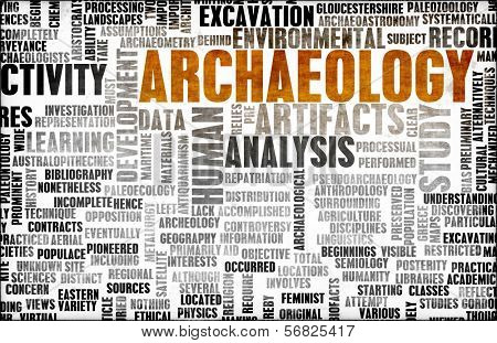 Archaeology Dig and Fun Exploration as Concept