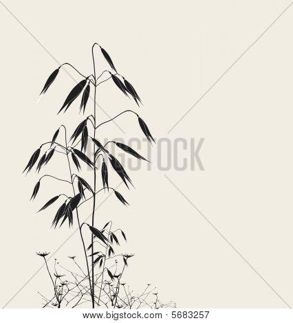 Stylized oats silhouette