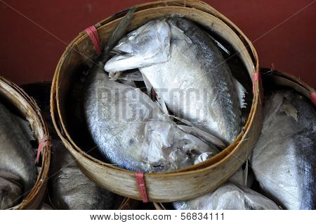 Mackerel Fish Basket Thailand Bamboo