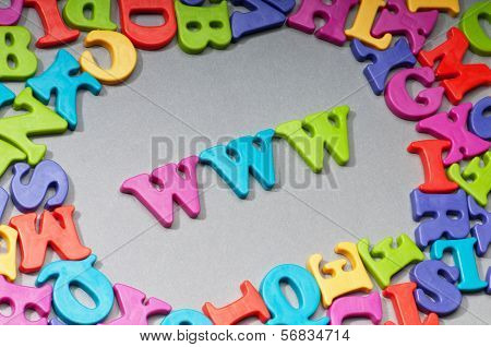 WWW letters on the background