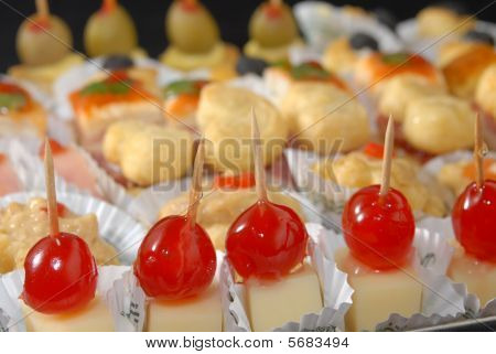 Food Close-up: Assorted Appetizers