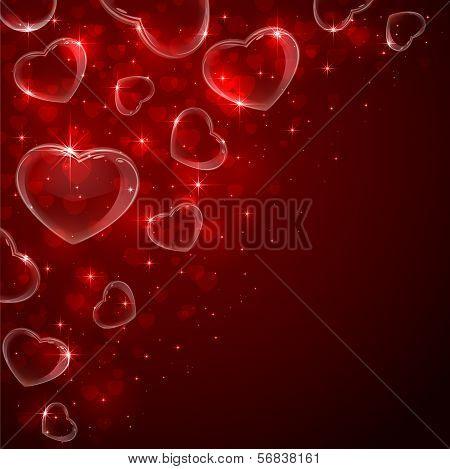 Bubbles hearts
