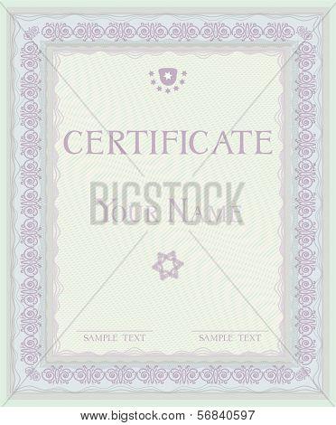 Certificate. Vector pattern  diplomas