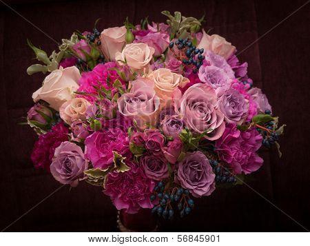 Violette palette wedding bouquet