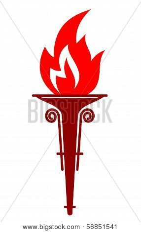 Flaming Portable Torch
