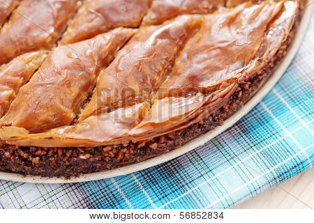 homemade delicious baklava - sweet food /shallow DoFF/ poster