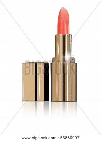 Lipstick For Lips Isolated On White Background