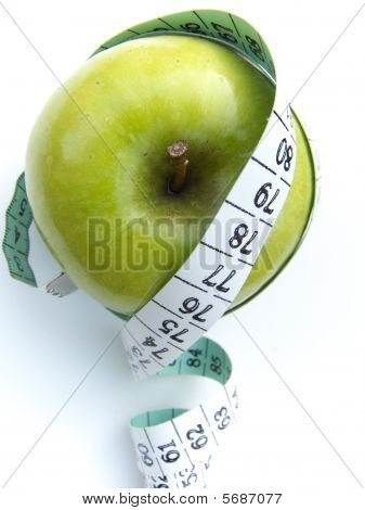 Apple Tape Measure Health Concept 3