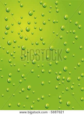 Seamless green background with water drops.