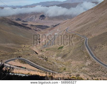 Hairpin Bends Leading Up The Cuesta Del Lipán