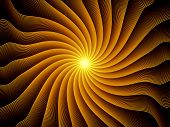 Fractal Burst series. Interplay of fractal radial burst pattern on the subject of science technology and design poster