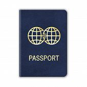 Realistic Passport. Isolated On White. Vector. This is file of EPS10 format. poster