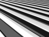Illustration of straight black and white lines poster