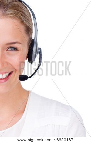 Close-up Of A Customer Service Agent