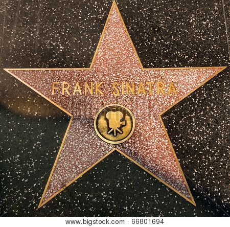 Los Angeles, Usa - August 23: Frank Sinatra Hollywood Star,2013