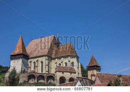 Fortified Church In The Town Of Biertan