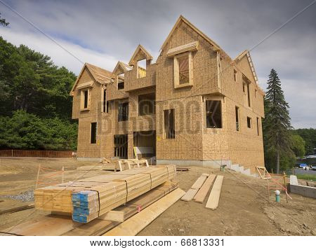 New house under construction