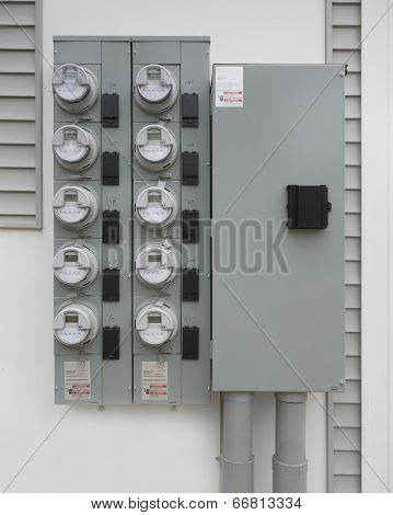 Multi family electricity meters