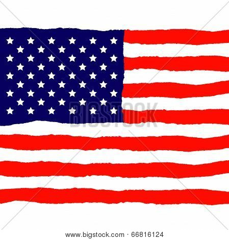 Grunge American Flag for Independence Day