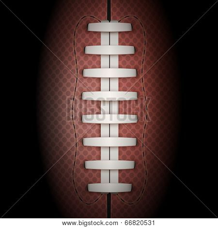 Dark Background Of American Football Ball. Vector Illustration.