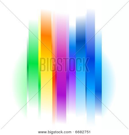 Futuristic Rainbow Abstract Background On White