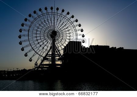 Silhouetted Giant Wheel